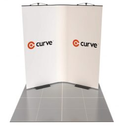 curve graphic display kit 2m x 2m