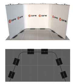 curve graphic display kit 4m x 2m
