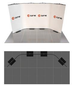 curve graphic display kit 4m x 2m option 2