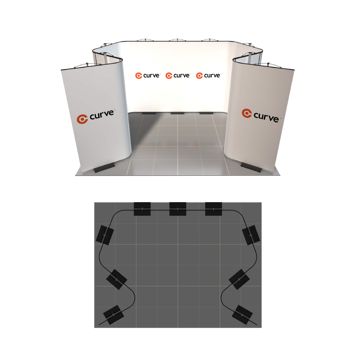 Exhibition Stand Curve : Curve displays m stand reflex exhibitions
