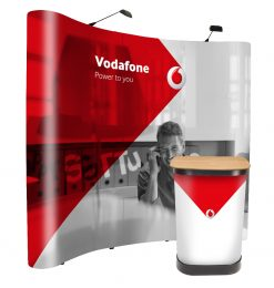 Fantastic value 3x3 pop up display stand exhibition kit