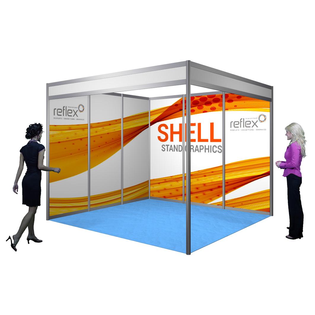 Exhibition Shell Scheme : Printed shell scheme panels reflex exhibitions