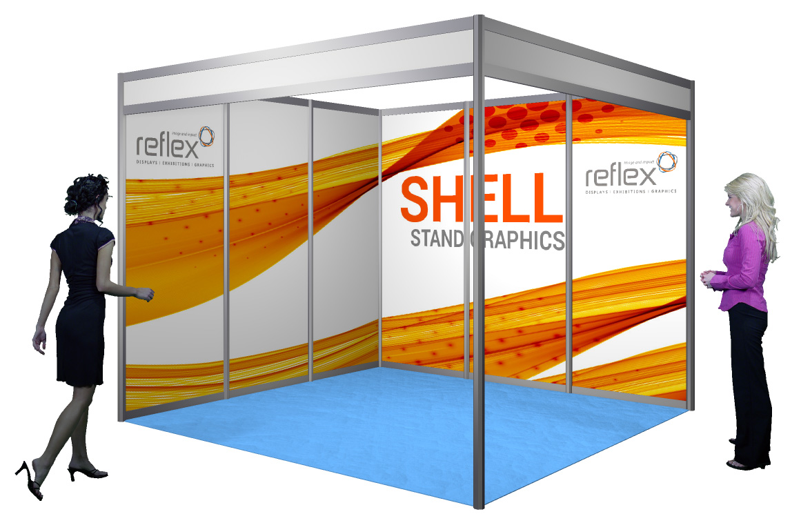 Exhibition Shell Scheme Panels : Printed shell scheme panels reflex exhibitions