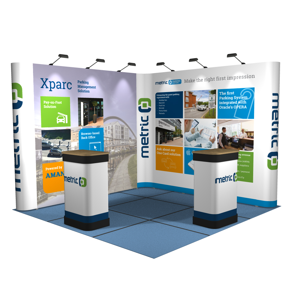 Pop Up Exhibition Stand : M m linked pop up display stand l shaped reflex exhibitions