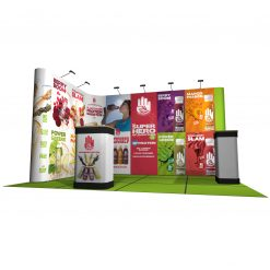 Linked Pop Up Display Stands