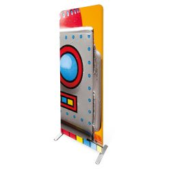 fabric tube banner stand